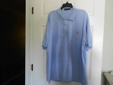 Polo Ralph Lauren Mesh Polo Shirt Baby Blue Orange Pony Size 2XB