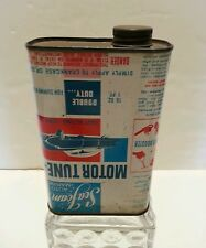 1940's SEA FOAM Petrolium Co Upside down AUTO MARINE MOTOR TUNE UP TREATMENT CAN