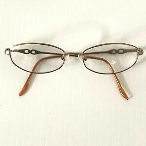 MARCHON M156 Womens Vintage Rose Gold Oval Rx Eyeglasses Frames 51-16-135