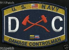 Military Rating DC Damage Controlman Firefighting United States NAVY Patch
