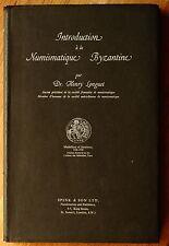 Longuet Introduction à la numismatique byzantine 1961 monnaies