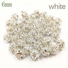 10 Pcs Crystal Rhinestone Ball Beads for Jewelry Making Bracelet Necklace