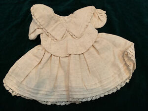 """Antique style doll dress 4 French German antique bisque head reproduction 12"""""""