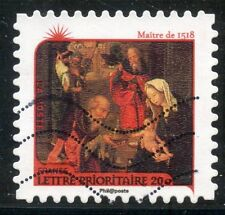 TIMBRE FRANCE AUTOADHESIF OBLITERE N° 628 / ART / NATIVITE / ADORATION DES MAGES