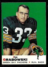 1969 TOPPS FOOTBALL GREEN BAY PACKERS SUPER BOWL JIM GRABOWSKI  CARD #124 EX+