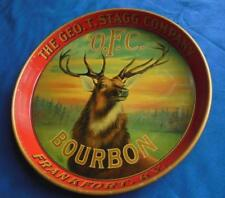 1890'S GEORGE T STAGG CO. OFC DISTILLERY FRANKFORT KY BOURBON ADVERTISING TRAY