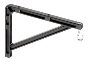 DA-LITE 98036 - #11 WALL HANGING BRACKETS - PAIR - BLACK - AUTHORIZED DEALER