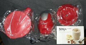 Ninja Storm Food Processor Blender-QB751Q- 450W Motor Power -Red- NEW