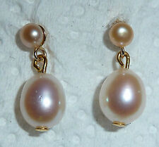 Screw Back (pierced) Cultured Fine Pearl Earrings