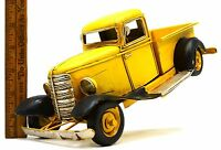 Vintage Folk Art? TOY TRUCK c.1930's MODEL Homemade HAND CRAFTED & PAINTED STEEL