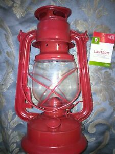 LIT DECOR RED LED LANTERN INDOOR/OUTDOOR BATTERY OPERATED