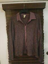 Womens Jjill tops size large, purple burnout paisley, Originally $69