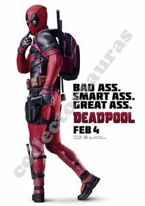 Marvel Studios Deadpool - Blockbuster Movie advert - A4 size HD print