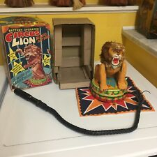 VINTAGE ROCK VALLEY TOYS (VIA), BATTERY OPERATED CIRCUS LION WITH ORIGINAL BOX!