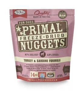 Primal Freeze Dried Dog Food Turkey & Sardine Formula 14 Ounce (Pack of 1)