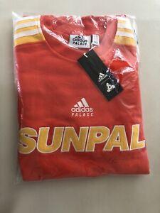 "Adidas x Palace ""Sunpal"" Crewneck Bright Orange Men's Size Small BRAND NEW"