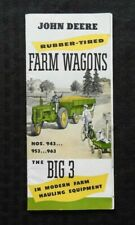 "1950 JOHN DEERE ""BIG 3 943 953 963 FARM WAGONS"" BROCHURE CATALOG TOY WAGON COVER"