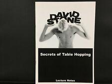 David Stone: Secrets of Table Hopping (Restaurant Magic) OOP