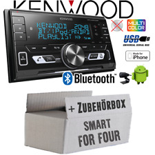 Kenwood Autoradio für Smart ForFour 454 2-DIN Bluetooth/USB/VarioColor Einbauset