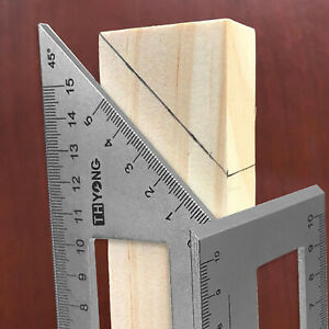 Multifunctional Square 45/90 Degree Gauge Mitre Angle Ruler Measuring Tool Charm