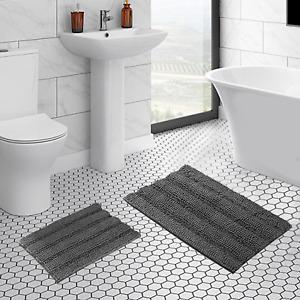 Soft Plush Non Slip Thick Indoor/Kitchen Bathroom Shaggy Chenille Microfiber Rug