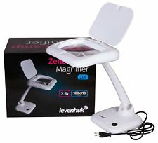 Levenhuk Zeno Desk Lamp ZL9 LED Magnifier with Light, 2.5X Magnification and ...