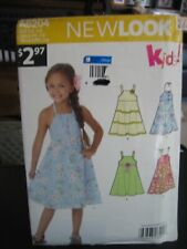 New Look A6204 Girl's Summer Dress Pattern - Size 3-8 Chest 21 1/2 to 26
