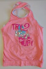 "Girls SO Pink Criss Cross Keyhole Tank Top Size 10 ""Try 2 Keep up"" with sequins"