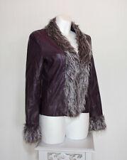 Damen Gesteppt PVC Langärmlig Reißverschluss Jacke Mit Wasserfallausschnitt