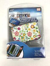 New Floral Aluma Wallet As Seen On Tv Indestructible Aluminum Wallet