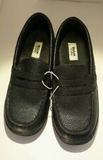Ruum To Grow Boy's Black Penny Loafers Size Y11 NWT