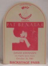 Pat Benatar - Vintage 1981 Original Concert Tour Cloth Backstage Pass *Last 1*