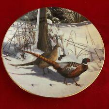 David Maass Pheasant Plate Collection~Danbury Mint~F7655~Early Winter Morning