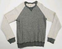 Splendid Mills Mens Sweatshirt Light and Dark Gray L Pullover