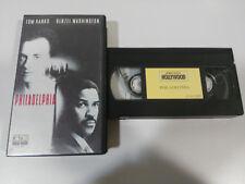 PHILADELPHIA TOM HANKS DENZEL WASHINGTON FAHNEN VHS AUSGABE SPANISCH