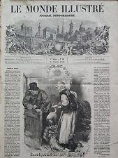 LE MONDE ILLUSTRE 1859 N 90 LE JOUR DE L' AN -  LES  DEUX FACES DE M. JANUS