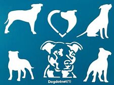Reusable Natural Ear American Pitbull Terrier Dog Die Cutting Stencil Template
