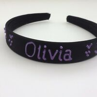 10 for £24.99 Personalised satin 2cm headband//hairband//alice band ANY NAMED