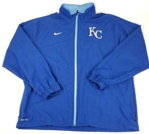 Nike Dri-Fit KC Kansas City Royals MLB Full Zip Athletic Sport Jacket Men's XXL