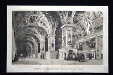 La biblioteca vaticana nel secolo XVIII, quadro di F. Pannini Incisione del 1867
