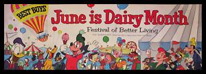 WALT DISNEY'S DISNEYLAND 1955 American Dairy Association Television Show POSTER!