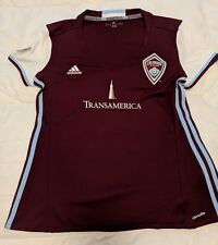 NWT Women's adidas Colorado Rapids MLS Burgundy Soccer Jersey Size L MSRP $75