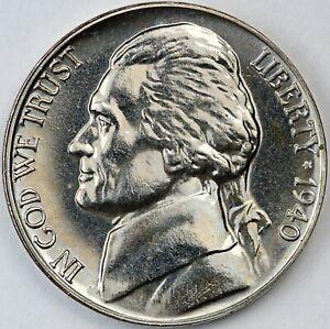 1940 United States Jefferson Head Five-Cent 5c - Proof Strike