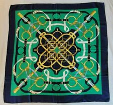 Hermès Eperon d'Or 100% 90cm Silk Scarf by Henri d'Origny in Excellent Condition