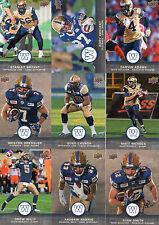 2016 Upper Deck CFL Football Winnipeg Blue Bombers Offensive Team Set (10)