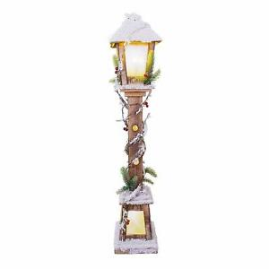 The Christmas Workshop Snow Lampost Warm White LED, 85cm Lamp Post - 71200