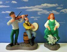 Dept 56 New England Village Dancing An Irish Jig! Step Dancing, Fiddle, Htf