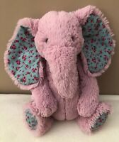 Jellycat Medium Bashful Blossom Elephant Baby Pink Soft Toy Comforter Soother