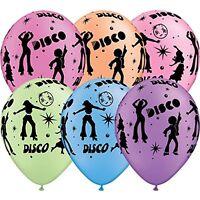 "11"" Neon Disco Latex Balloons Helium Quality Qualatex 70s Party Decorations Fun"