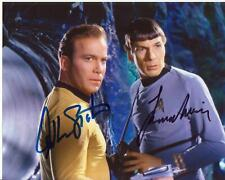 William Shatner & Leonard Nimoy Autogramm STAR TREK Autograph Captain Kirk